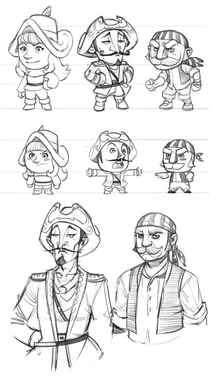 Chucklefish pirates game sketch